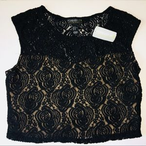 Forever 21 Plus Lace Crop Top NWT